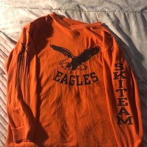 Orange gap long sleeved shirt